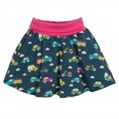 Frugi Rainbow Roads Parsnip Printed Skirt