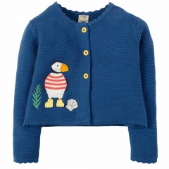 Frugi Puffin Applique Milly Swing Cardigan