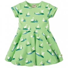 Frugi Duck Ponds Little Spring Skater Dress