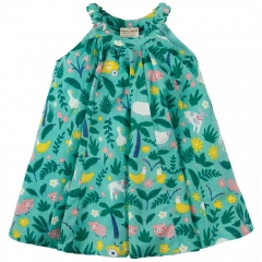 Frugi Farm Floral Little Tabitha Trapeze Dress