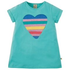 Frugi Sophie Heart Sequin Applique Top