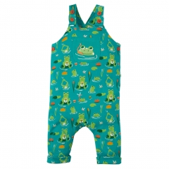 Frugi Lovely Day Frog Pond Dungarees
