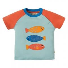 Frugi Fish Renny Raglan Top