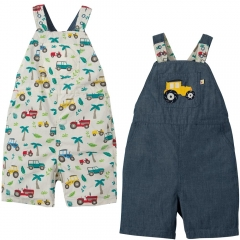 Frugi Tropical Tresco Rory Reversible Dungarees