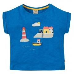 Frugi Sophie Slub Harbour Scene T-Shirt