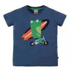 Frugi Stanley Applique Frog T-Shirt