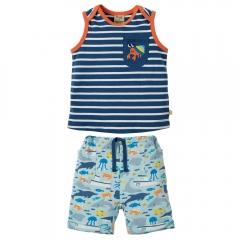 Frugi Hermit Crab Summertime Top & Shorts