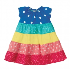 Frugi Rainbow Hotchpotch Dorothy Twirly Dress
