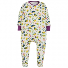 Frugi Tweet Zipped Babygrow