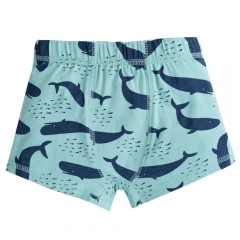 Frugi Whale Of A Time Sean Printed Boxer Trunks