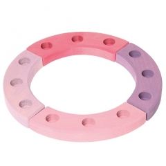 Grimm's 12-Hole Pink-Purple Wooden Ring