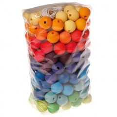 Grimm's 180 Coloured Beads 20mm