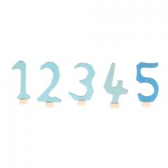 Grimm's Decorative Numbers Set 1-5 - Blue