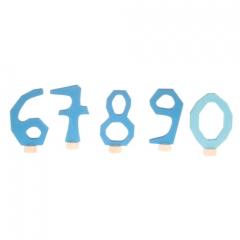 Grimm's Decorative Numbers Set 6-9 & 0 - Blue