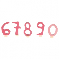 Grimm's Decorative Numbers Set 6-9 & 0 - Pink