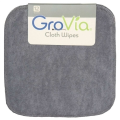 12 GroVia Cloth Wipes - Cloud