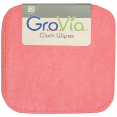 12 GroVia Cloth Wipes - Rose