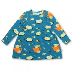 JNY Autumn Cat LS Sweet Dress