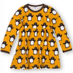 JNY Penguin Ocher LS Sweetdress