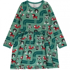 Maxomorra Big City LS Spin Dress