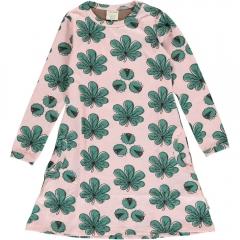 Maxomorra Chestnut Leaf LS Dress