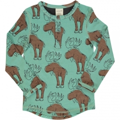 Maxomorra Mighty Moose LS Slim Button Top
