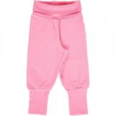 Maxomorra Rose Pink Rib Pants