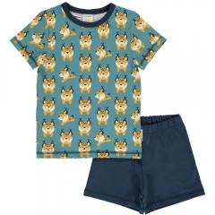 Maxomorra Lively Lynx SS Pyjamas