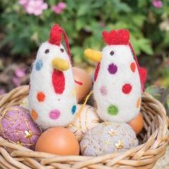 Namaste Felt Chicken Decoration