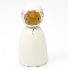 Peepul Easter Lamb Peg Doll