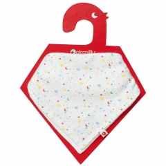 Piccalilly Ditsy Star Muslin Bandana Bib & Burp Cloth