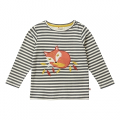 Piccalilly Fox Stripe Long Sleeve Top