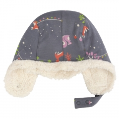Piccalilly Winter Woodland Sherpa Lined Hat