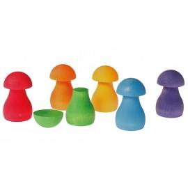 Grimm's Rainbow Mushrooms Sorting Game