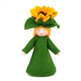 Ambrosius Green Sunflower Crown Fairy 7-8cm