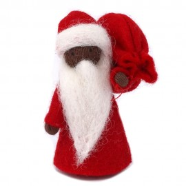 Ambrosius Father Christmas Dark Brown Skin 8-10cm
