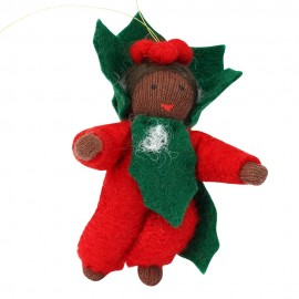 Ambrosius Holly Baby Hanging Decoration Dark Brown Skin