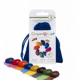 Crayon Rocks Bag of 8 in Blue Velvet Bag