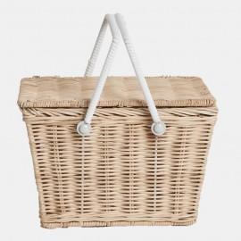 Olli Ella Piki Picnic Basket - Straw