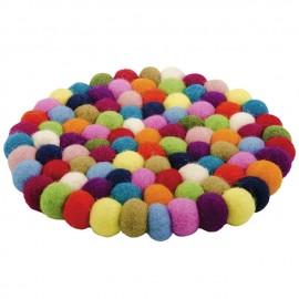 Fair Trade Felt Rainbow Ball Placemat