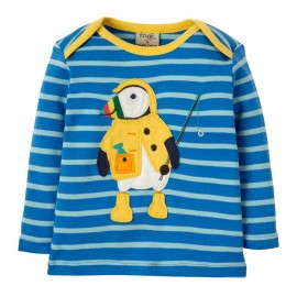 Frugi Bobby Puffin Applique LS Top