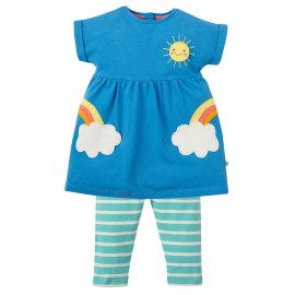 Frugi Rainbow Cloud Olive Outfit