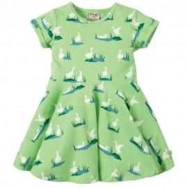 Frugi Duck Ponds Little Spring Skater Dress