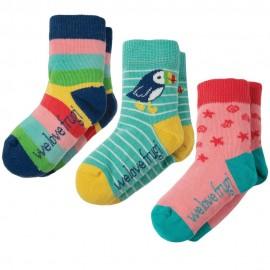 Frugi Rainbow Little Socks x3