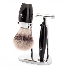 MÜHLE Kosmo 3 Piece Shaving Set - Black Resin