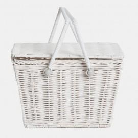 Olli Ella Piki Picnic Basket - White