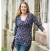 Frugi Tulip Row Wrap Top