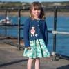 Frugi Paddling Puffins Spring Skater Dress
