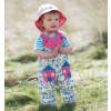 Frugi Happy Houses Springtime Dungarees