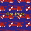 Maxomorra Fire Engine Solid Print LS Top